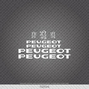 01254 Peugeot Bicycle Stickers - Decals - Transfers - White