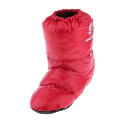 Waterproof Camping Tent Slippers Duck Down Soft Boots Flexible Shoes Red L