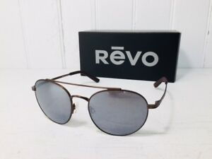 d414a7c05a REVO RE1045 02 GGY HELIX Brown Frame w POLARIZED GLASS Graphite Lens ...