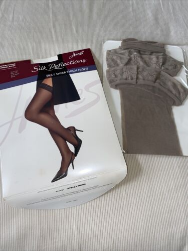 Women's Hanes Silk Reflections Soft Taupe Sheer Th