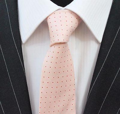 Vendita Calda Tie Cravatta Slim Pallido Rosa Salmone Cotone Di Alta Qualità T6131-mostra Il Titolo Originale