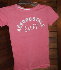 Aeropostale Kids Girls T-Shirt Graphic Printed Logos Aero Sizes 4-14