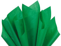 Festive Green Tissue Paper For Gift Wrapping 15x20 Sheets Eco-friendly