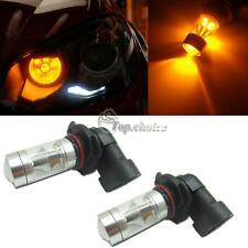 2pcs Newly Amber Yellow 9005 HB3 Double Reflector LED High Beam Bulbs DRL