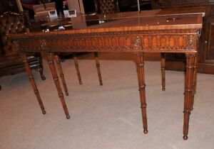 Image Is Loading Chippendale Console Table Hand Carved Mahogany Hall Tables