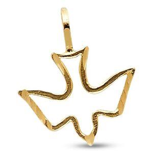14K Yellow Gold Dove Pendant
