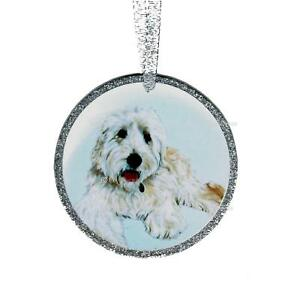 image is loading goldendoodle ornament golden doodle art christmas tree ornament