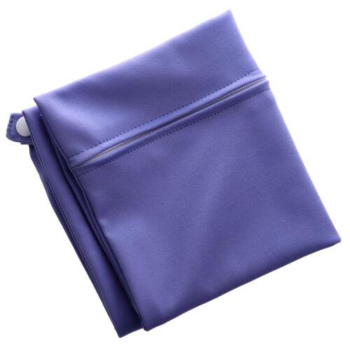 Waterproof Zippered Pocket Washable Reusable Baby Cloth Diaper Bag Purple S3X9