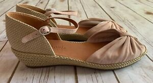 6bc5fb12430 Details about GENTLE SOULS BY KENNETH COLE LUCILLE ESPADRILLE WEDGE SANDALS  PINK SUEDE SZ 10