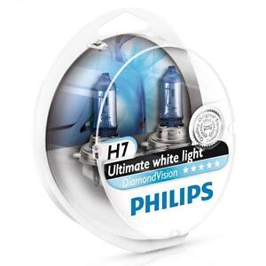 H7-PHILIPS-Diamond-Vision-5000K-Ultimate-White-Light-Bulbs-Headlamp-Genuine