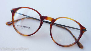 Alte Berufe Antiquitäten & Kunst Binde Brille Brillenfassung Braun Hornoptik Panto Rund Schwarze Bügel Gr M Die Neueste Mode
