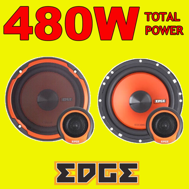 EDGE 480W TOTAL 2WAY 6.5 INCH 16.5cm CAR DOOR 2WAY COMPONENT SPEAKERS + TWEETERS