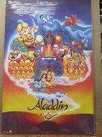 Vintage Walt Disney Pictures Aladdin Poster Cartoon Disney Movie 12337