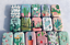 16pcs Empty Tinplate Tin Metal Container Small Storage Collectables Cactus Style