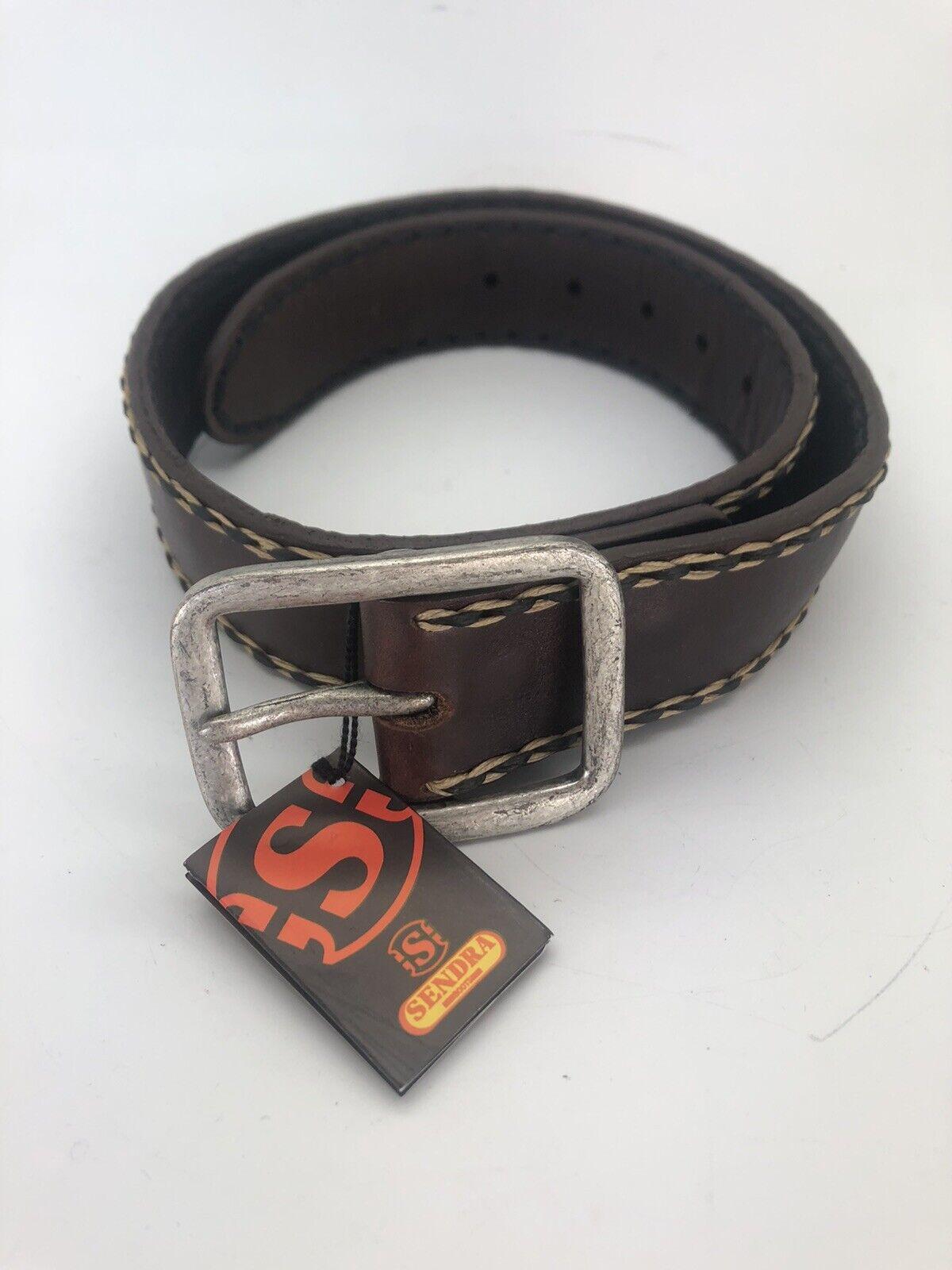 Belt Men's Sendra LEATHER SIZE M 75 Colour BROWN NEW