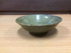 Y0880-CHAWAN-Karatsu-ware-Japanese-pottery-antique-bowl-Japan