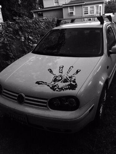 "Hand Skull Eye Fingers hood decal Large 23/"" Car Truck graphic Vinyl Sticker"