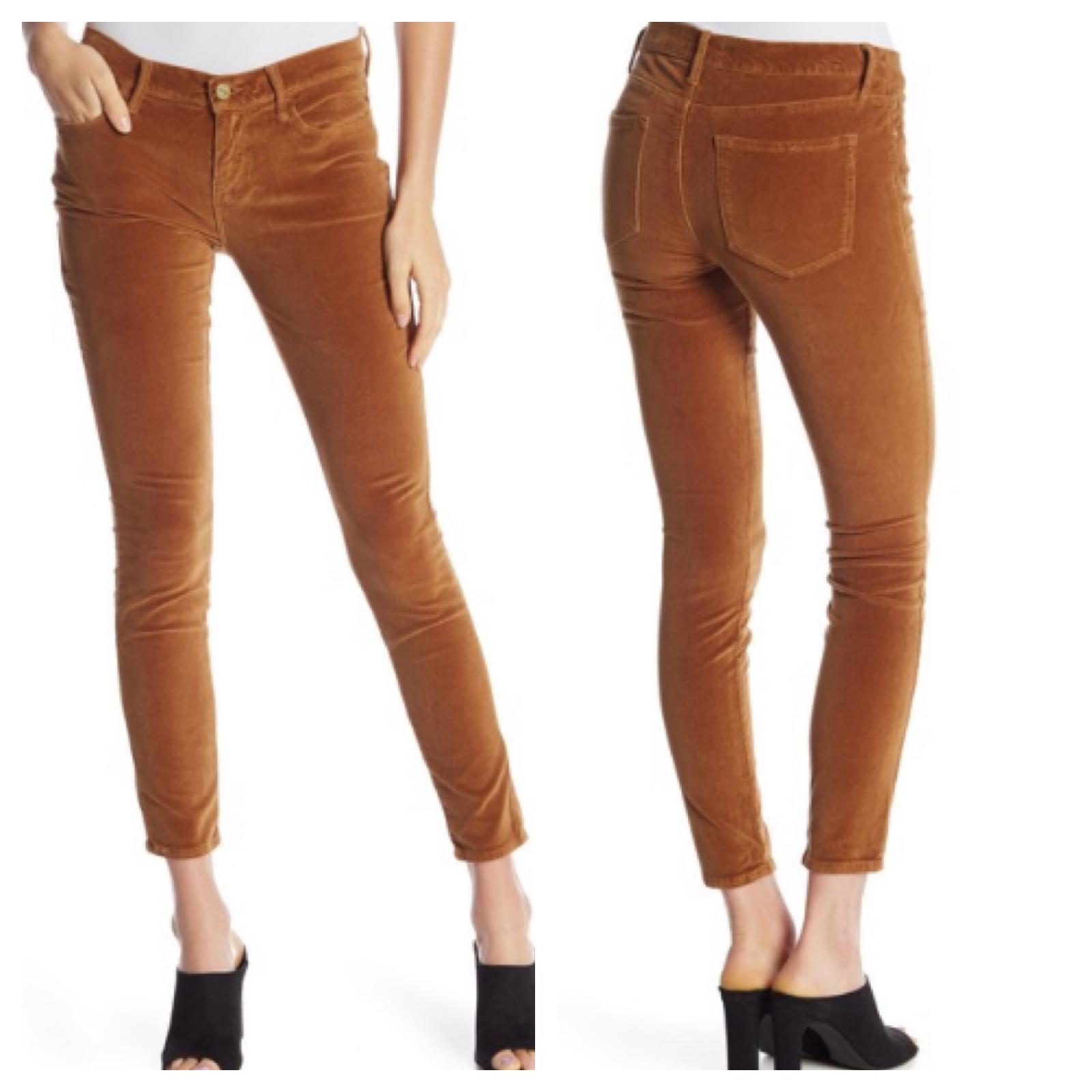 Frame Denim le velours de coton Skinny Pantalon de Jeanne 29 Camel
