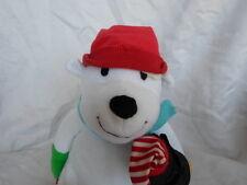 "Sledding Polar Bear Penguin Sound 9"" Plush Soft Toy Stuffed Animal"