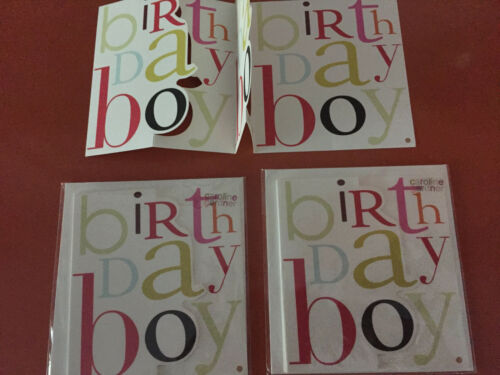 Caroline Gardner BIRTHDAY BOY pop-up card LOT of 3 cards ENGLAND $5.95@