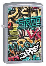 NEUHEIT 2017!!! ZIPPO Feuerzeug GRAFFITI Street Chrome Malerei Farben NEU OVP