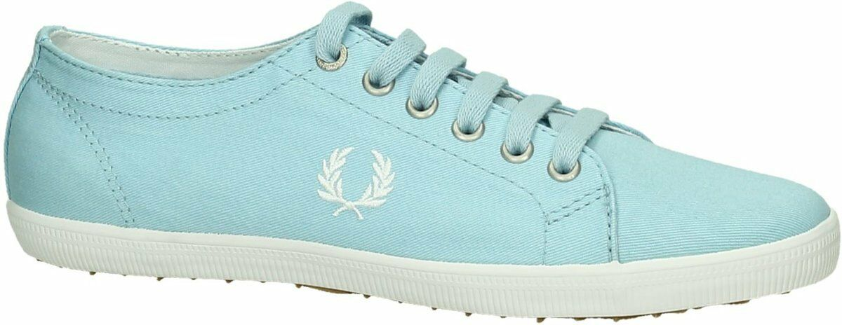 Fred Perry Kingston Twill Plimsolls Entrenadores Bombas Zapatos Casuales B6259-975