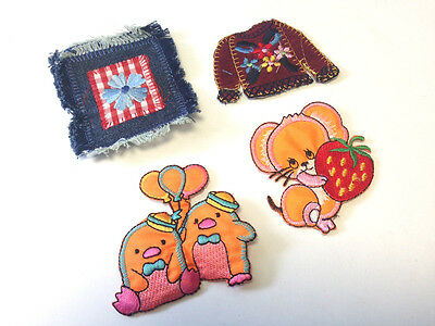 8 x Children/'s Embroidered Iron Sew On Motifs Appliques Patches DIY Craft