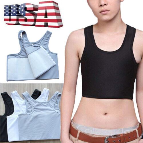 Lesbian Tomboy Compression Slim Vest Tops Breast Chest Binder Les Bandage Corset