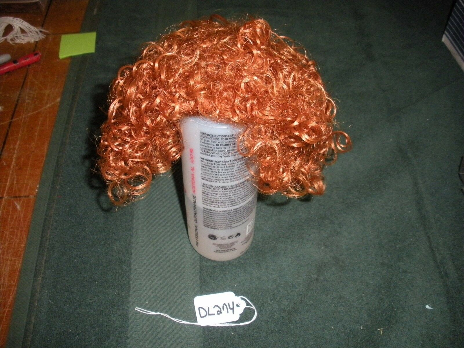 Monique Liza Size 8-9 Carrot Red Doll Wig DL274