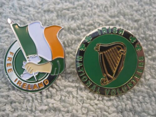 Volunteers /& Free Ireland Pin//Badges 2pc Irish Freedom Badges Erin Sinn Fein AOH