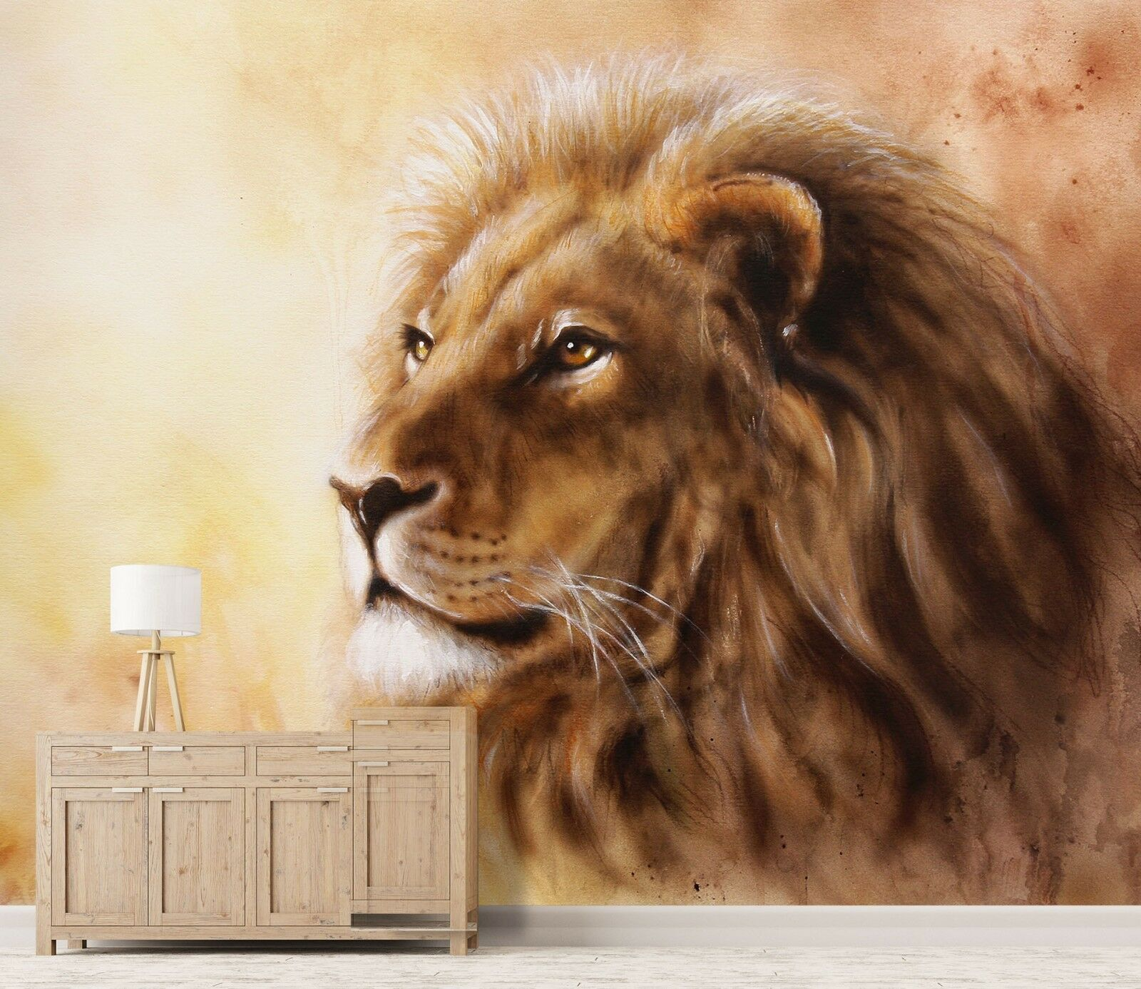 3D Lion Oil Painting 45 Wall Paper Wall Print Decal Wall Deco Indoor Wall Murals