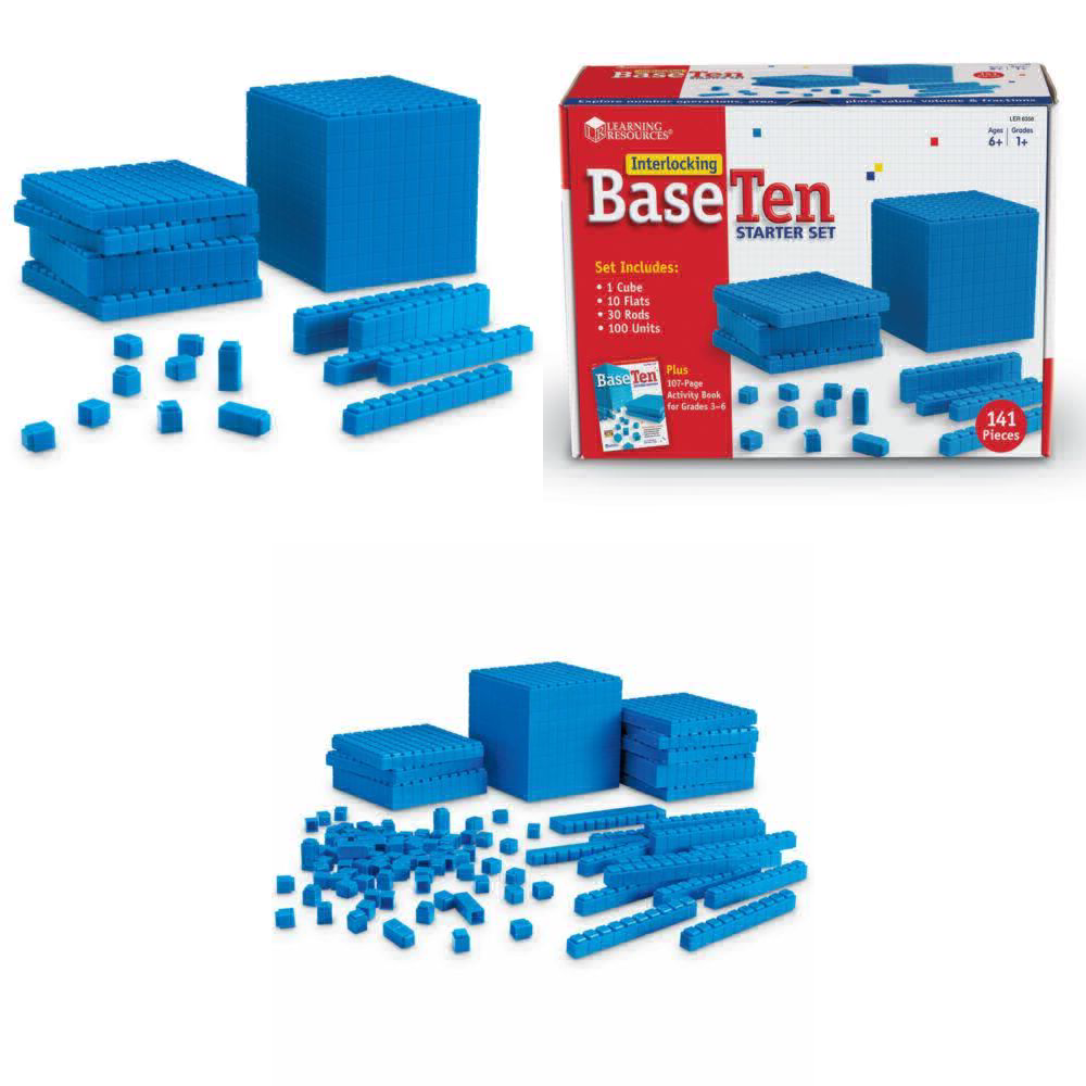 Learning Resources Base Ten Interlocking Plastic Rods Starter Set