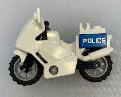 White Vintage Motorbike Motorcycle Bike Lego City Brand New Pieces