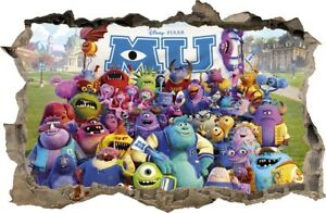 Wall Stickers Hole In The Wall 3d Monster Inc Sticker To