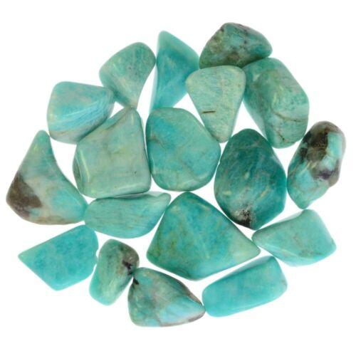 """0.75/"""" to 1.5/"""" Avg. 1 lb Tumbled Amazonite Stones from Madagascar"""
