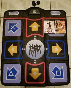 PS2 Digital Labs Black Game Dance Pad Mat PlayStation 2 w/ 2 DDR Games
