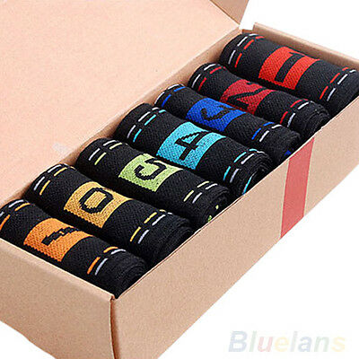 7 Pairs Men's Fashion Socks Cotton Blend Printing Pattern Ankle Crew Sock Hot