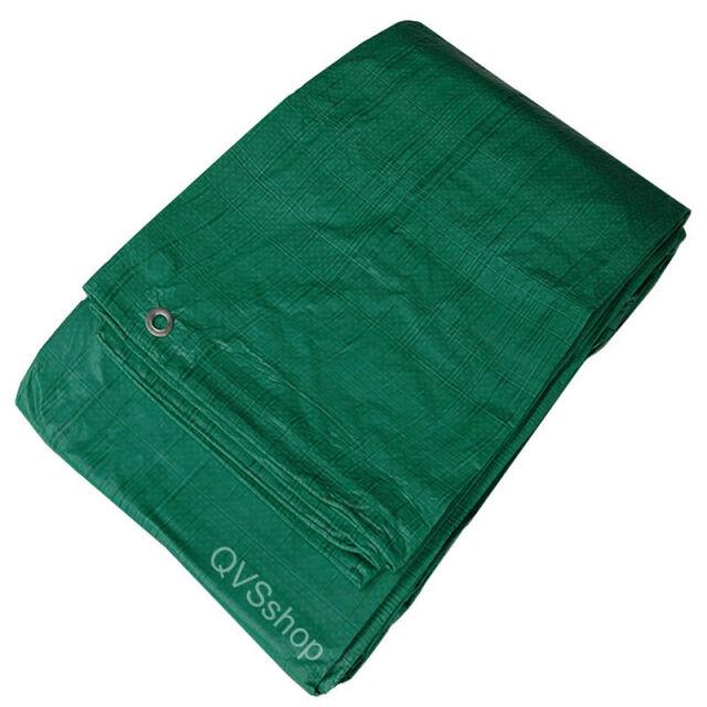 LARGE GREEN WATERPROOF TARPAULIN COVER SHEET 4.5M x 9M