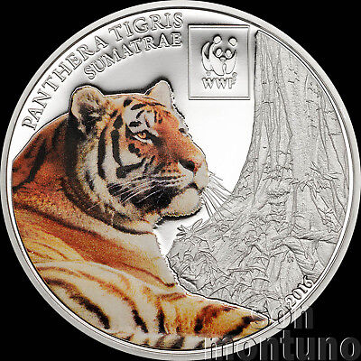 2016 Tanzania AMAZON RAINFOREST Colorized Silver Plated COPPER Coin African WWF