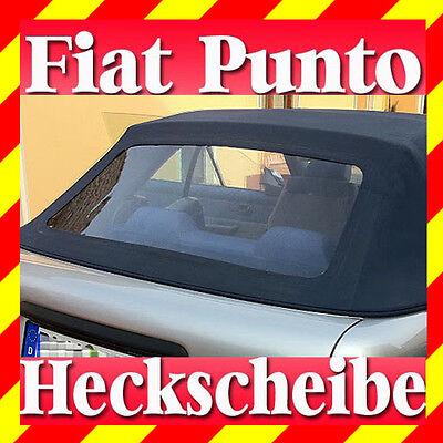 Anleitung Fiat Punto Cabrio Heckscheibe PVC Plastik Fenster mit Reißverschluß