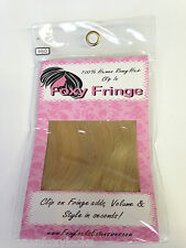 FOXY LOCKS GENUINE REMY HUMAN HAIR FULL CLIP-IN FRINGE/BANG HOLLYWOOD BLONDE #60