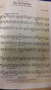 Avoir Un Esprit De Recherche Laborda: Six Inventions Pour 2 Bb Trompette Et Trombone: Musique-afficher Le Titre D'origine Vente Chaude 50-70% De RéDuction