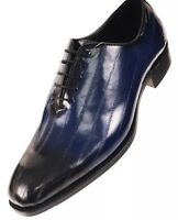 Men's Dress Shoes Bolano Navy Ell Skin Print Oxford Brayden