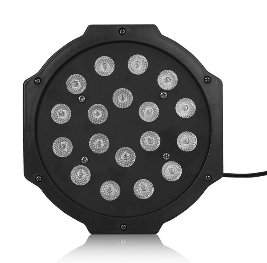6X 18 LED RGB PAR DJ Stage DMX Lighting For Disco Home Party Wedding Uplighting