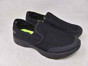 New-Men-039-s-Skechers-54171-GOwalk-4-Contain-Slip-On-Shoes-Black-D60