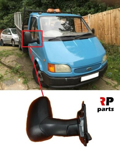 FOR FORD TRANSIT 1994-2000 NEW WING MIRROR MANUAL BLACK LONG VERSION RIGHT LHD