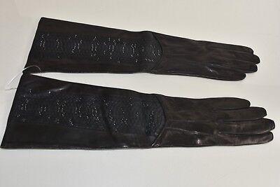 DOLCE /& GABBANA cachemire Gants avec cristaux pour Robe Noir 05970