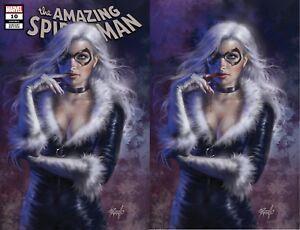 AMAZING SPIDERMAN 799 FRANK CHO VARIANT 2 PACK VIRGIN BLACK CAT SET NM