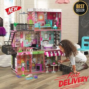 wooden barbie dollhouse furniture. Image Is Loading Barbie-Size-Dollhouse-Furniture-Girl-Playhouse-Dream-Play- Wooden Barbie Dollhouse Furniture