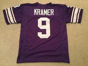 UNSIGNED-CUSTOM-Sewn-Stitched-Tommy-Kramer-Purple-Jersey-M-L-XL-2XL